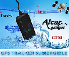 GPS tracker impermeable